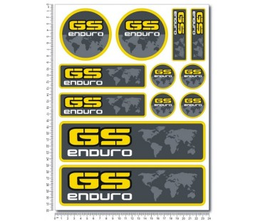 Bmw gs enduro sticker set-1,motosiklet sticker