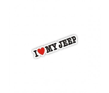 I Love My Jeep Sticker