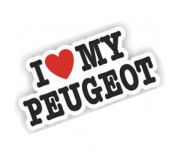 I Love My Peugeot Sticker