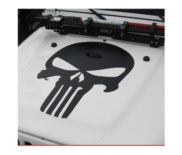 Jeep Ön Kaput Punisher Sticker