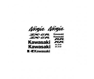 Kawasaki zx6 636 sticker set
