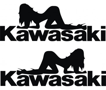 kawasaki women  sticker,oto sticker,motosiklet sticker