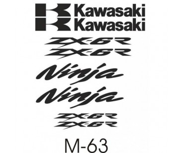 Kawasaki Zxr-6 Sticker Set