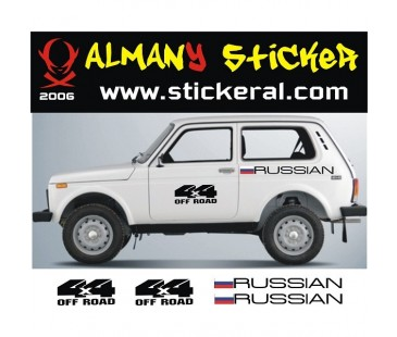 Lada Niva Sticker Set-6