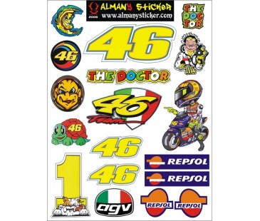 motosiklet sticker set-1