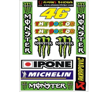 motosiklet sticker set-4