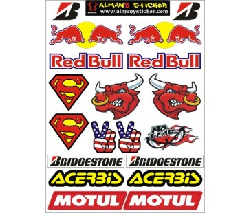 motosiklet sticker set-6