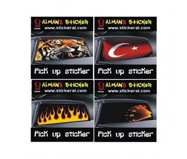 Pick Up One Way Vision Sticker,jeep sticker-3