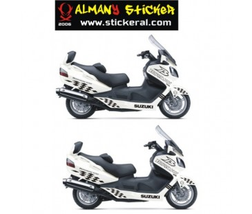 Suzuki Burgman Sticker Set