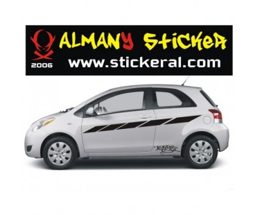 Toyota Yaris Sticker Set