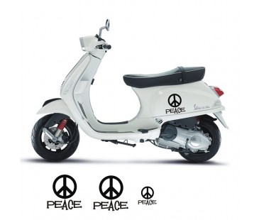 Vespa Peace Sticker