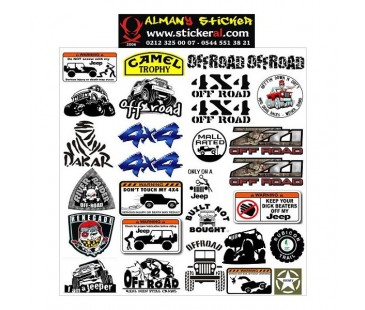 JEEP OFF ROAD STICKER SET